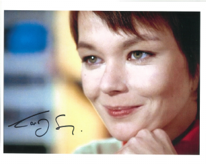 "Carolyn Seymour,  ""Survivors"", Doctor Who, Zombie,  genuine signed 10x8 autograph 10348"